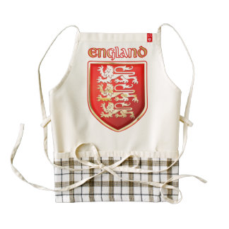 The Royal Arms of England Zazzle HEART Apron