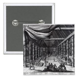 The Royal Banquet, illustration Pinback Button