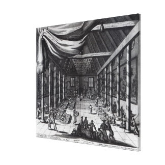 The Royal Banquet, illustration Canvas Print