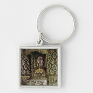 The Royal Bed, probably 18th century (photo) Silver-Colored Square Keychain