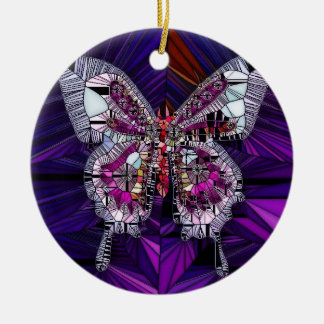 The Royal Butterfly Effect - Sapphire & Amethyst Ceramic Ornament