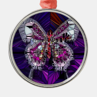 The Royal Butterfly Effect - Sapphire & Amethyst Metal Ornament