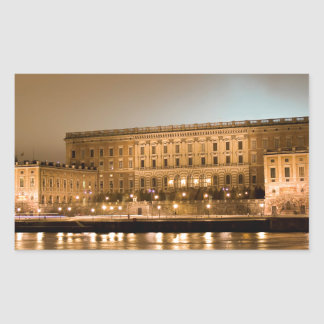 The Royal Castle, Stockholm Sweden Rectangular Sticker