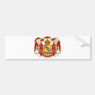 The Royal Coat of Arms of the Kingdom of Hawaii Car Bumper Sticker