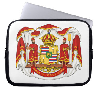 The Royal Coat of Arms of the Kingdom of Hawaii Computer Sleeve