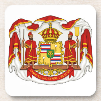 The Royal Coat of Arms of the Kingdom of Hawaii Drink Coaster