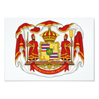 The Royal Coat of Arms of the Kingdom of Hawaii Personalized Invites