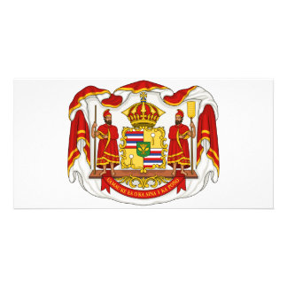 The Royal Coat of Arms of the Kingdom of Hawaii Photo Card