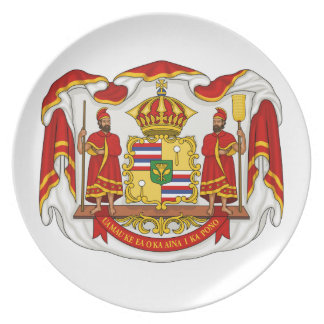The Royal Coat of Arms of the Kingdom of Hawaii Dinner Plates