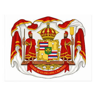 The Royal Coat of Arms of the Kingdom of Hawaii Postcard
