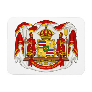 The Royal Coat of Arms of the Kingdom of Hawaii Rectangular Photo Magnet