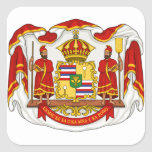 The Royal Coat of Arms of the Kingdom of Hawaii Square Stickers