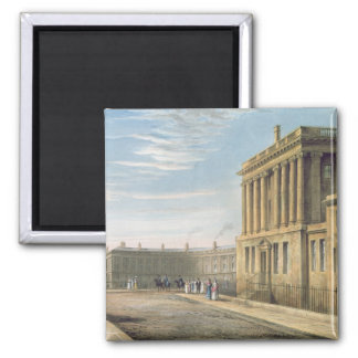 The Royal Crescent, Bath 1820 2 Inch Square Magnet