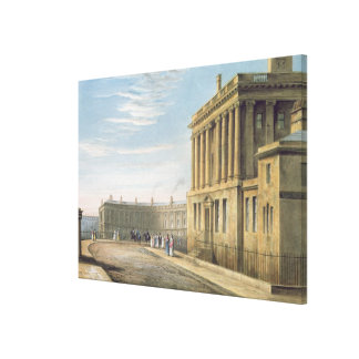 The Royal Crescent, Bath 1820 Canvas Print