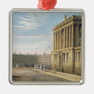 The Royal Crescent, Bath 1820 Metal Ornament