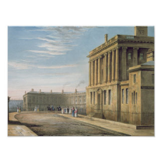 The Royal Crescent, Bath 1820 Poster