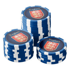 The Royal Crest Of England Poker Chips Set