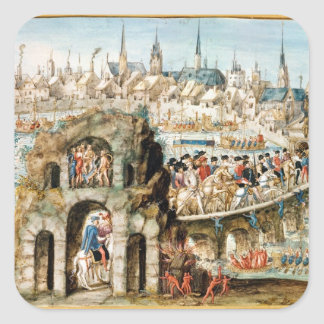 The Royal Entry Festival of Henri II  into Square Sticker