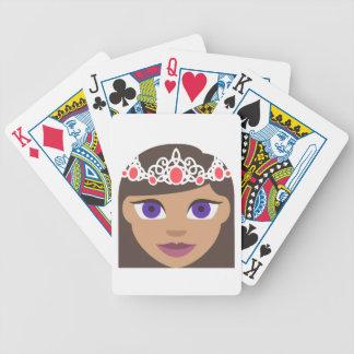 The Royal Families American Princess Emoji Bicycle Playing Cards