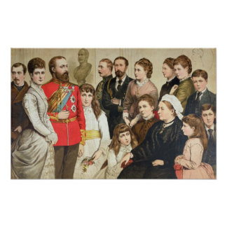 The Royal Family, 1880 Poster