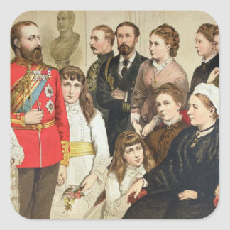The Royal Family, 1880 Square Sticker