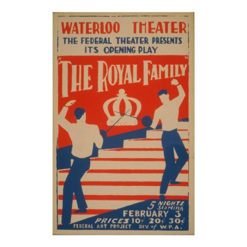 The Royal Family Vintage WPA Poster