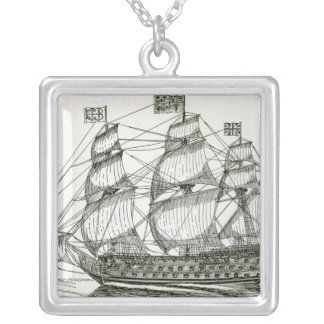 The Royal George Silver Plated Necklace