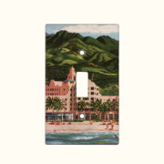 The Royal Hawaiian Hotel Light Switch Cover