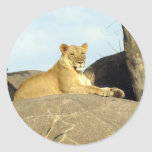 The Royal Lioness Classic Round Sticker