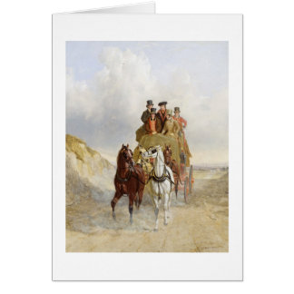 The Royal Mail Coach on the Road, 1841 (oil on pan Greeting Card