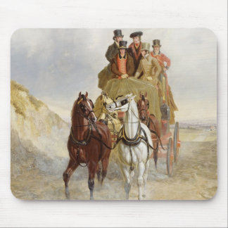 The Royal Mail Coach on the Road, 1841 (oil on pan Mouse Pad