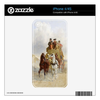 The Royal Mail Coach on the Road, 1841 (oil on pan iPhone 4 Decals