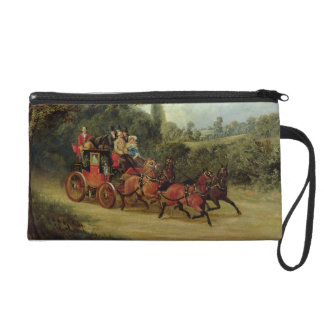 The Royal Mail Coach with Passengers (oil on canva Wristlet
