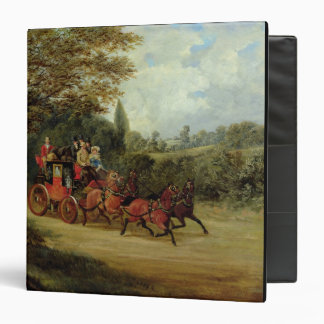 The Royal Mail Coach with Passengers (oil on canva Vinyl Binders