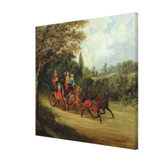 The Royal Mail Coach with Passengers (oil on canva Canvas Print
