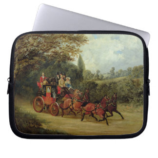The Royal Mail Coach with Passengers (oil on canva Laptop Sleeve