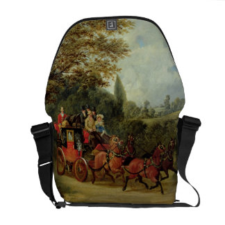 The Royal Mail Coach with Passengers (oil on canva Courier Bags
