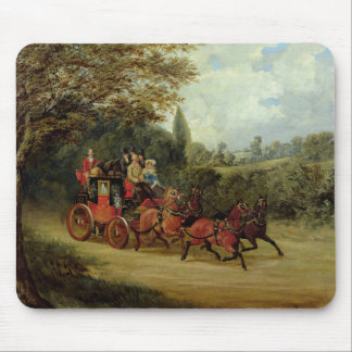 The Royal Mail Coach with Passengers (oil on canva Mouse Pad