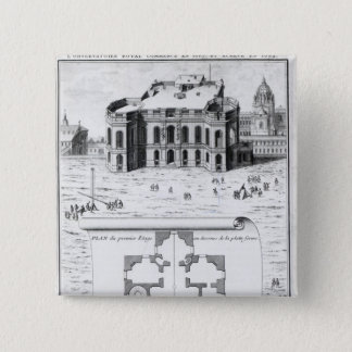 The Royal Observatory in Paris, 1741 Button