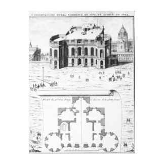 The Royal Observatory in Paris, 1741 Canvas Print