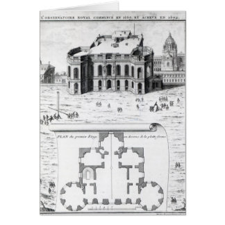 The Royal Observatory in Paris, 1741 Card