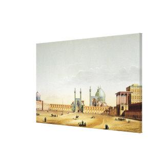 The Royal Palace and the Mesdjid-i-Shah, Isfahan, Canvas Print