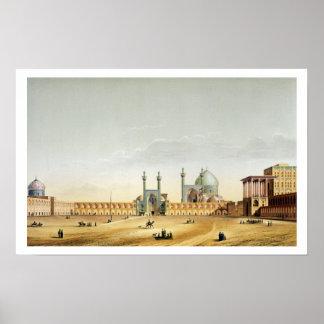 The Royal Palace and the Mesdjid-i-Shah, Isfahan, Poster