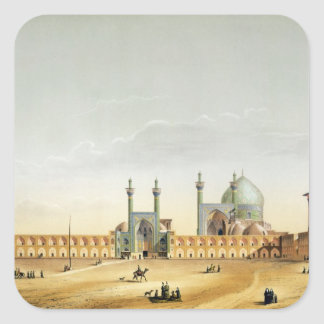 The Royal Palace and the Mesdjid-i-Shah, Isfahan, Square Stickers
