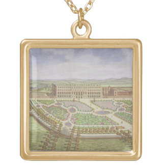 The Royal Palace of Hampton Court, from 'Survey of Square Pendant Necklace
