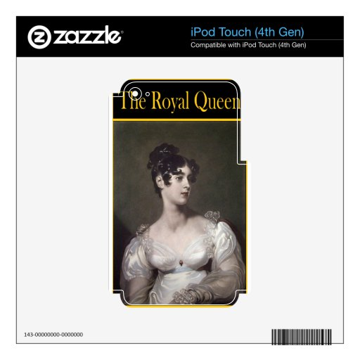 THE ROYAL QUEEN DECAL FOR iPod TOUCH 4G