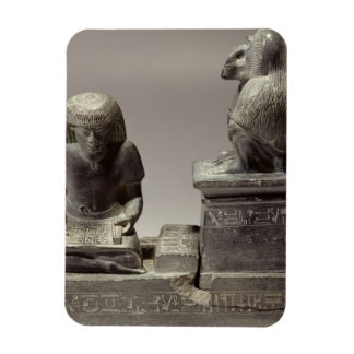 The royal scribe Nebmertuf writing under the prote Rectangular Photo Magnet