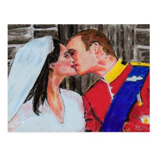 The Royal Seal  -postcard-pastel art Postcard
