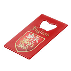 The Royal Shield of England Credit Card Bottle Opener