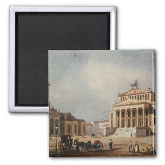 The Royal Theatre and the New Church, 1833 2 Inch Square Magnet
